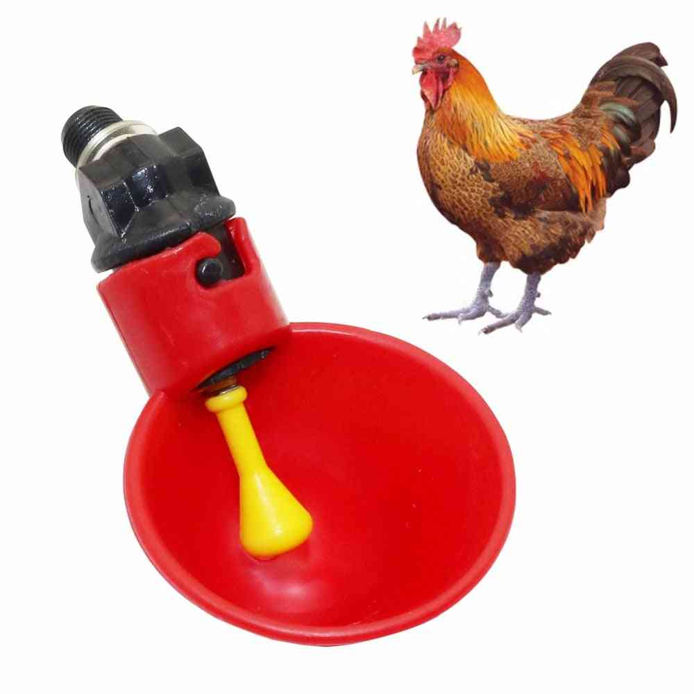 Automatic Quail Plastic Poultry Chicken Fowl Water Drinking Cups - Breeding Equipment