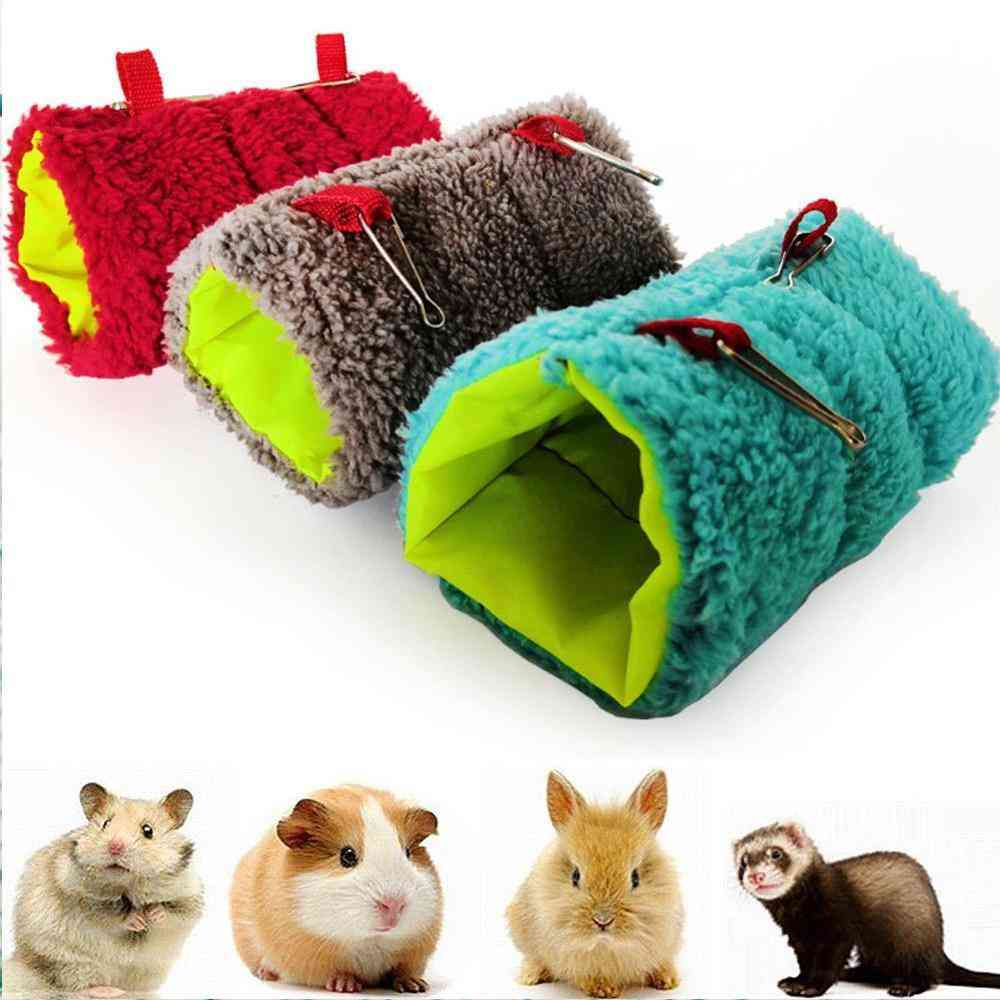 Small Pet Warm Tunnel, Hammock Hanging Bed, Squirrel Shed Cave