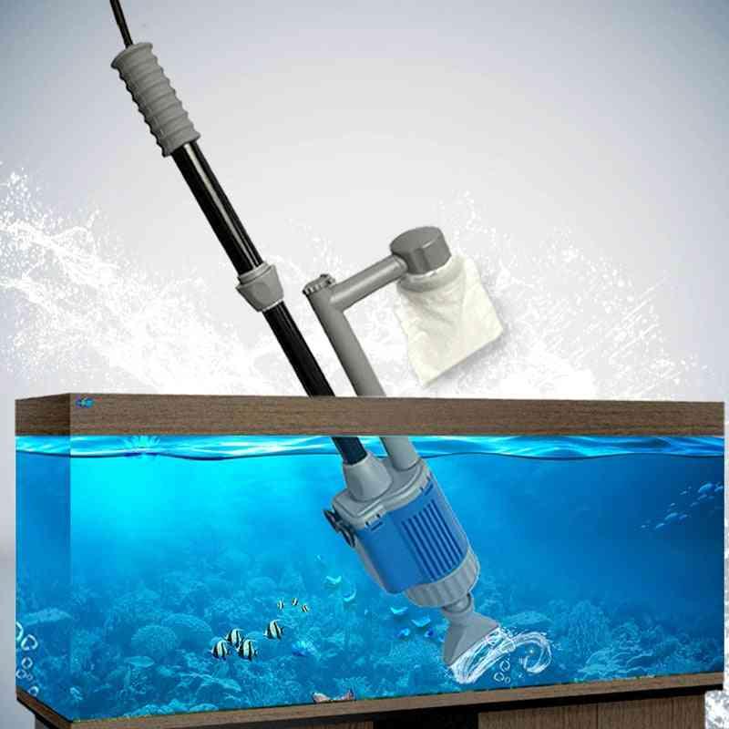 Electric Aquarium Fish Tank Water Change Pump, Aquarium Cleaning Water Changing Tool