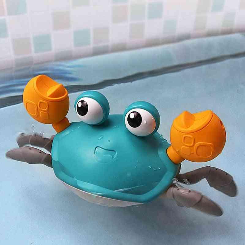 Crab, Clockwork, Infant Water Beach, Swim Shower Game For Baby Bath Tub