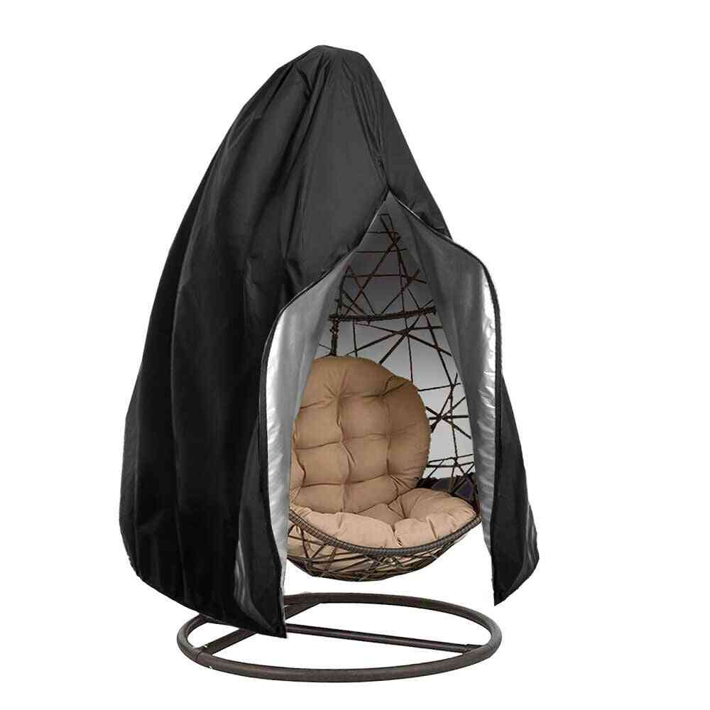 Waterproof Patio Chair Cover, Swing Dust Cover Protector With Zipper, Protective Case Outdoor Hanging