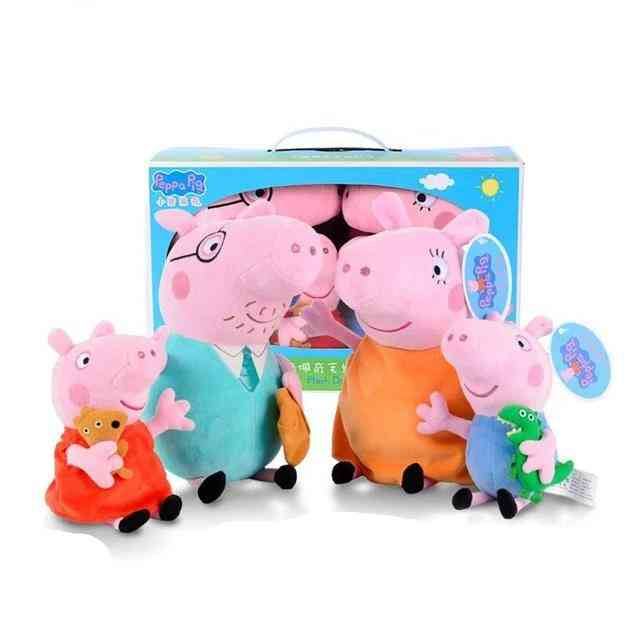 Peppa Pig George Family Plush Toy - Peppa Pig Stuffed Doll Party Decorations Ornament, Peppa Pig Birthday For