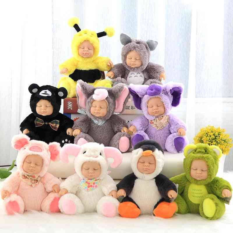 Kids Stuffed Baby Doll Newborn Sleep Accompany Plush - Cute Pvc Face Animal Doll Plush Birthday For