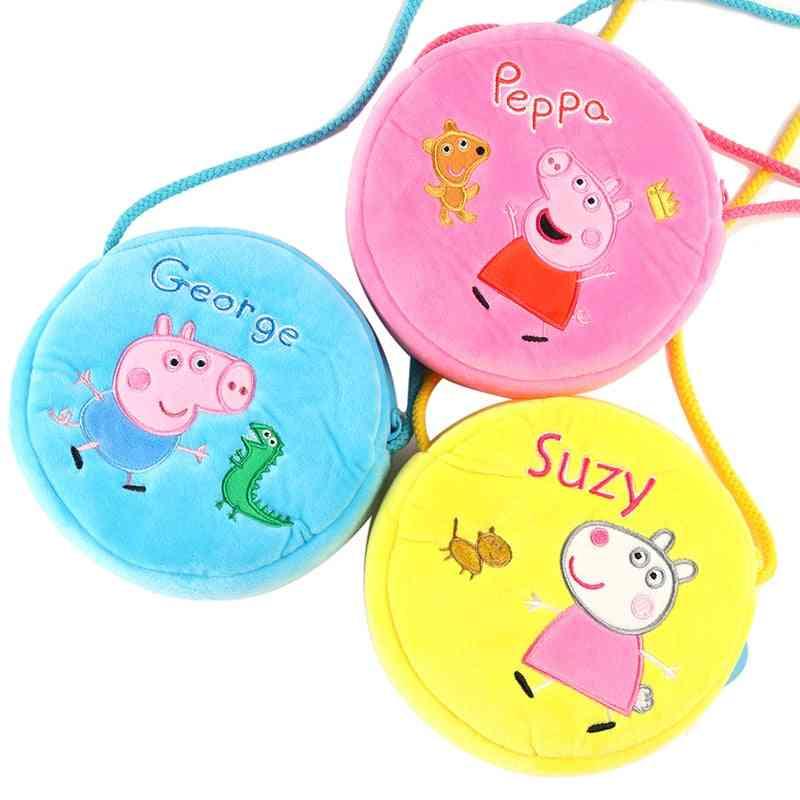 Peppa Pig Plush Cute Kindergarten Shoulder Bag, Wallet Bag, Mobile Phone Bag