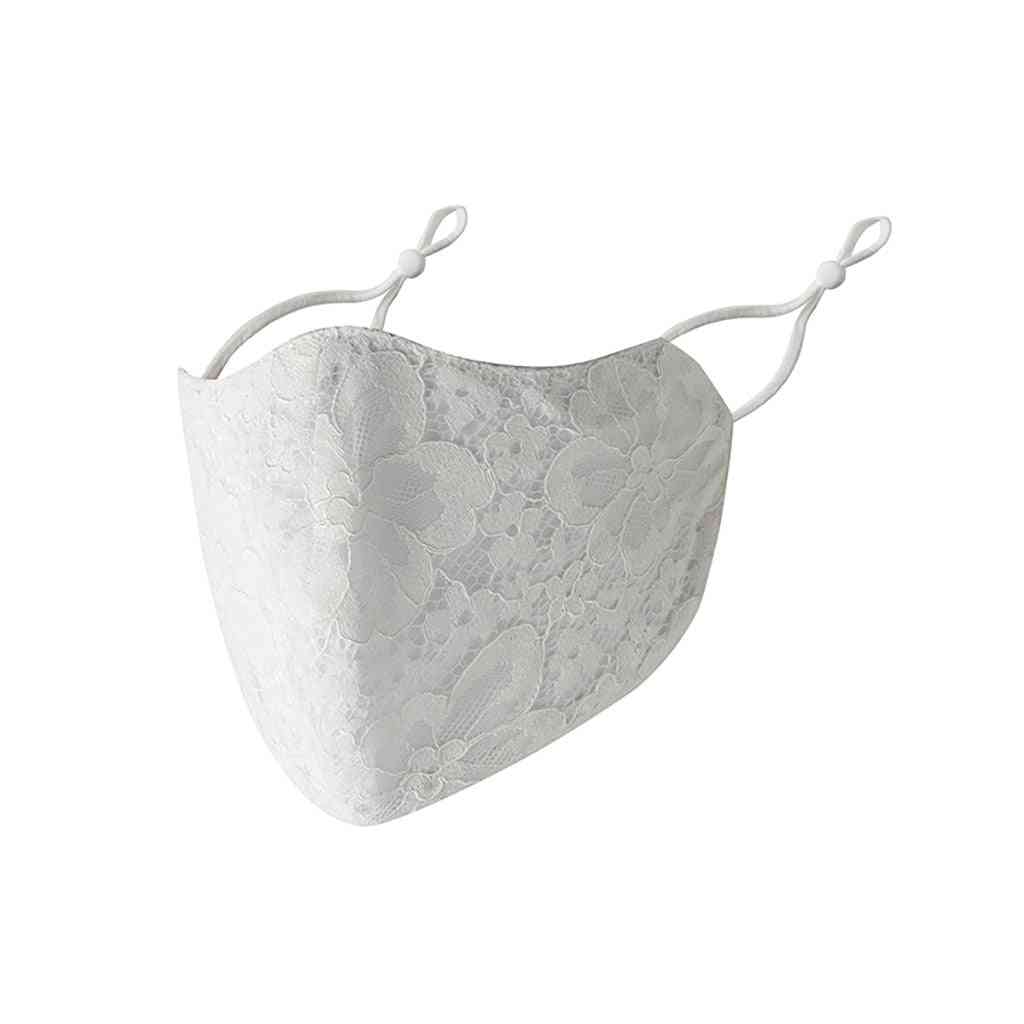 Reusable Lace Cotton Face Care Cover - Windproof Neck Scarf