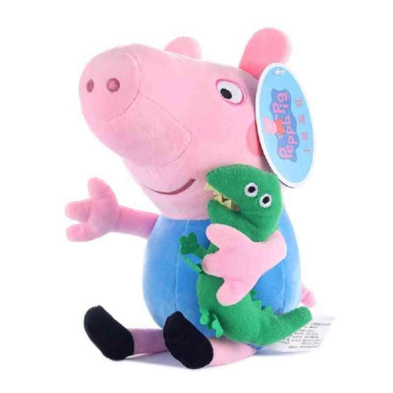 Genuine Peppa Pig George Family Plush Toy With Pet Teddy Bear / Dinosaur