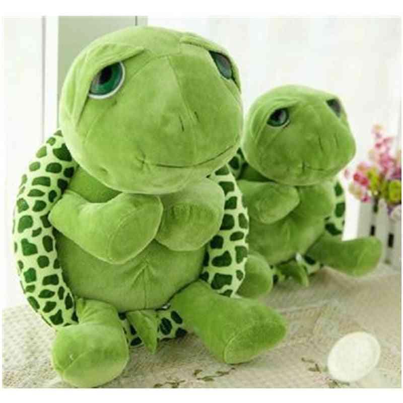 Army Green Big Eyes Turtle Plush Toy Birthday, Christmas
