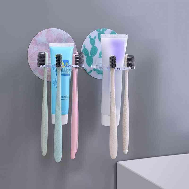 Wall Mounted Multi Card Slot Toothbrush Holder, Rack, Hanging Storage Organizer Set