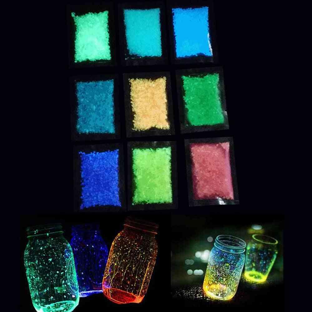 Garden Park Road Pebbles, Luminous Sand Stones, Glow In Dark Ornaments For Party Aquariums Fish Tank Decoration