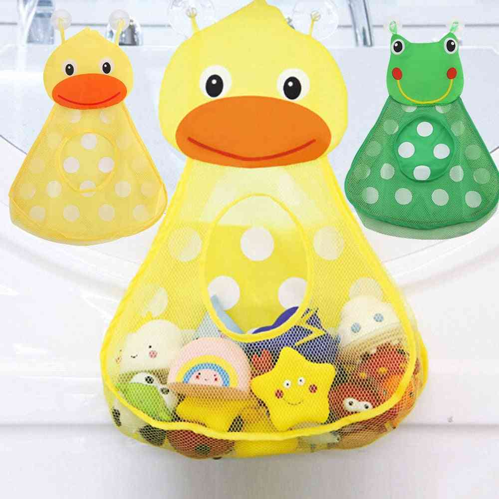 Baby Shower Bath Storage Mesh With Strong Suction Cups For Bathroom