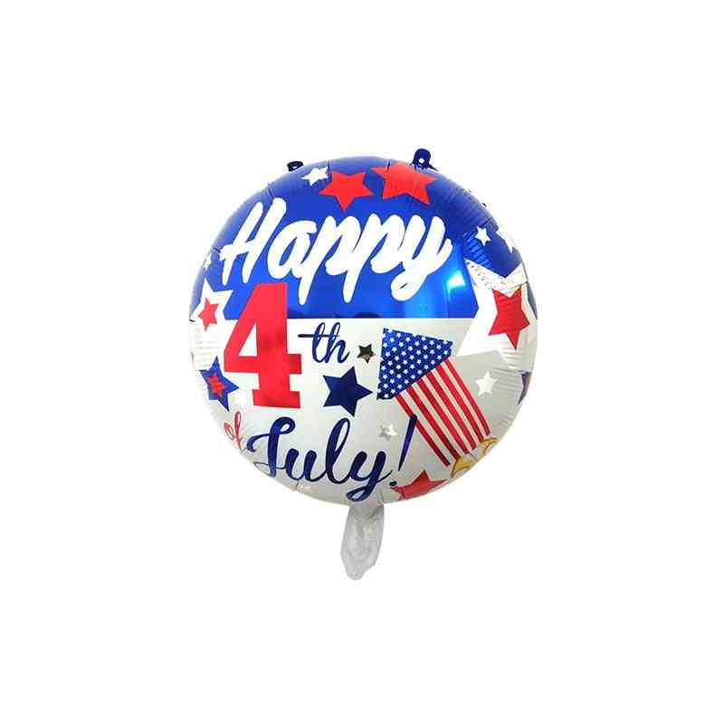 National Flag Five-pointed Star Independence Day Balloon - Holiday Party Decoration