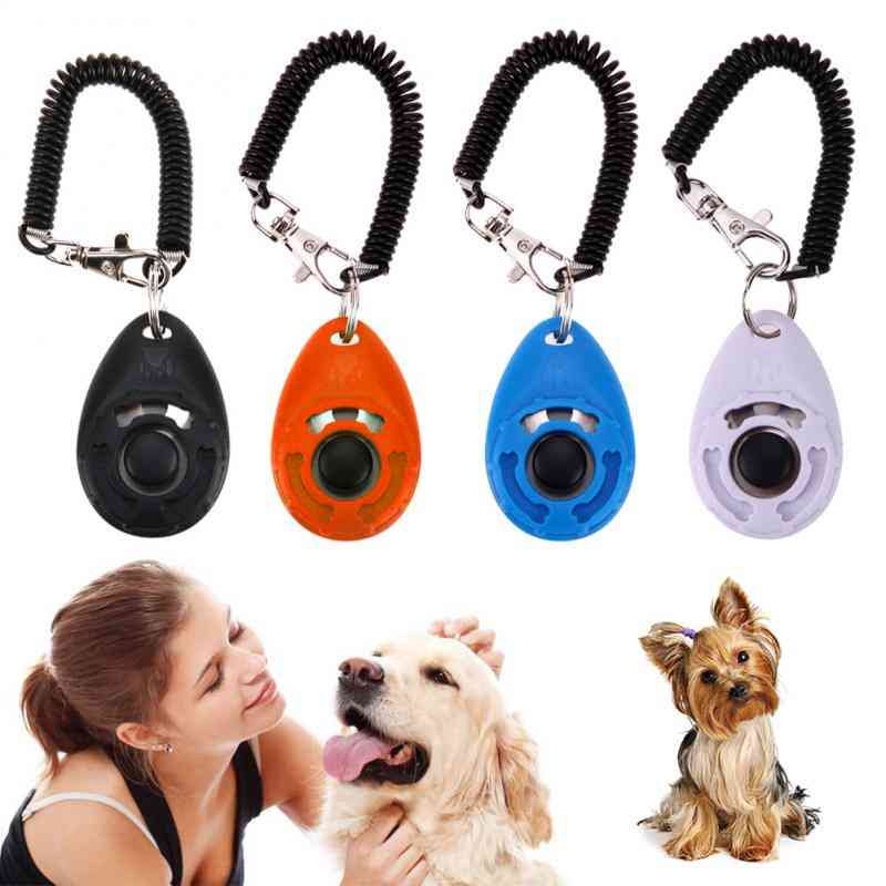 Dog Training Clicker - Adjustable Sound, Key Chain And Wrist Strap Remote Controlled