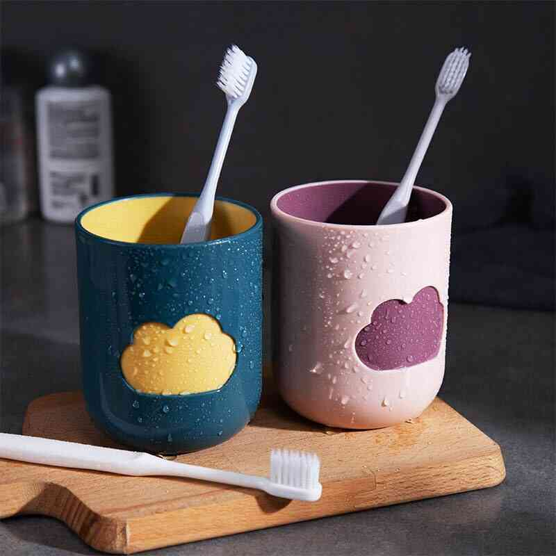 Environmental Friendly, Big Mouth Couples Cups - Toothbrush Storage Mugs