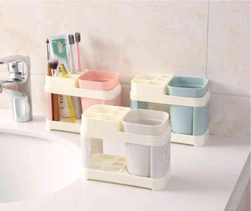 Toothbrush, Toothpaste Holder Suits - Bath Set, Storage Racks For Bathroom