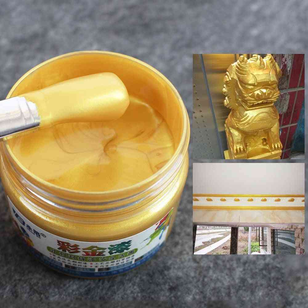 Water Based Gold  Lacquer Paint For Wood Varnish - Coating For Arts Craft & Furniture