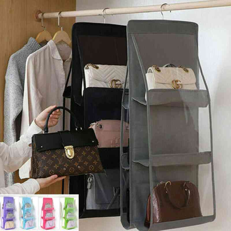 Anti Dust Pocket Folding Hanging Handbag Purse Storage Holder Organizer