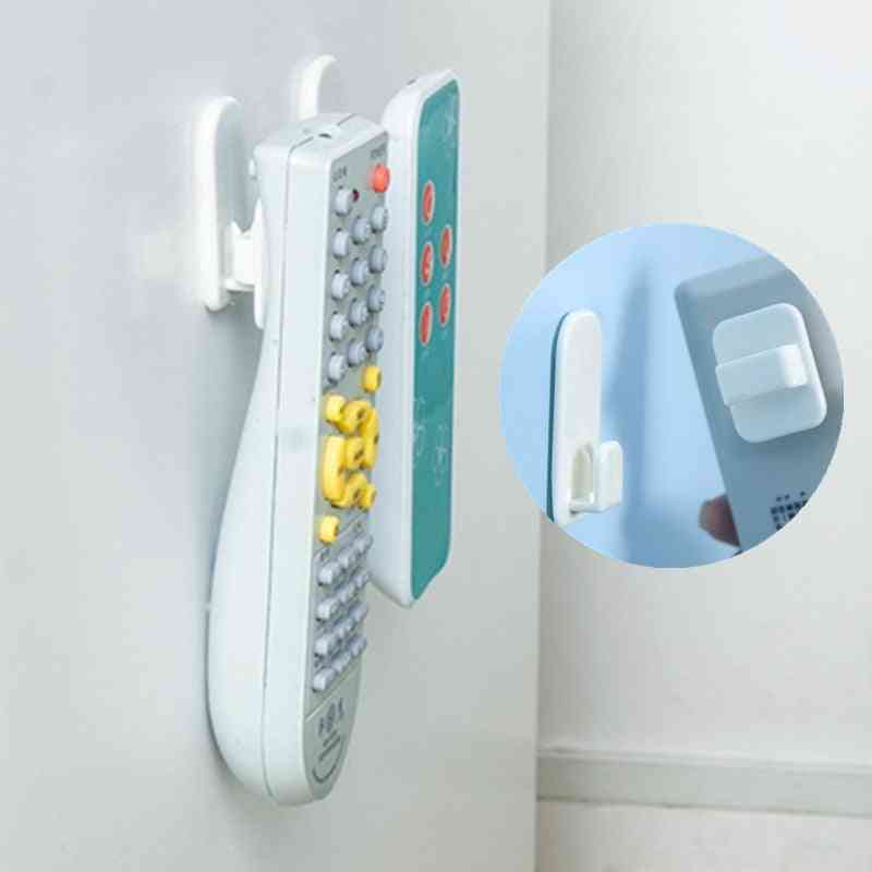 Air Conditioner, Tv Remote Control, Sticky Plastic Hooks Wall Storage Strong Hanger Set