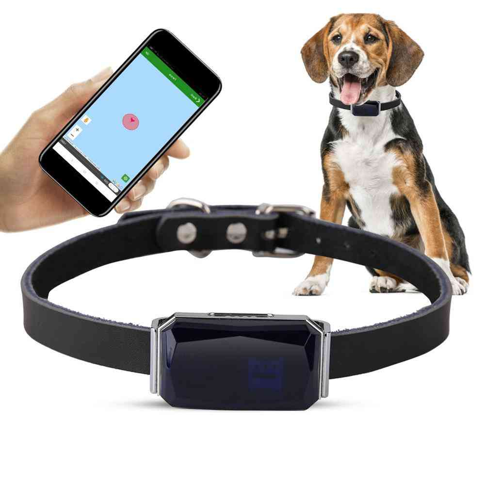 Pets Smart Gps Tracker - Ip67 Waterproof Adjustable Practical Anti Lost Collar Tracking Locator With Free App