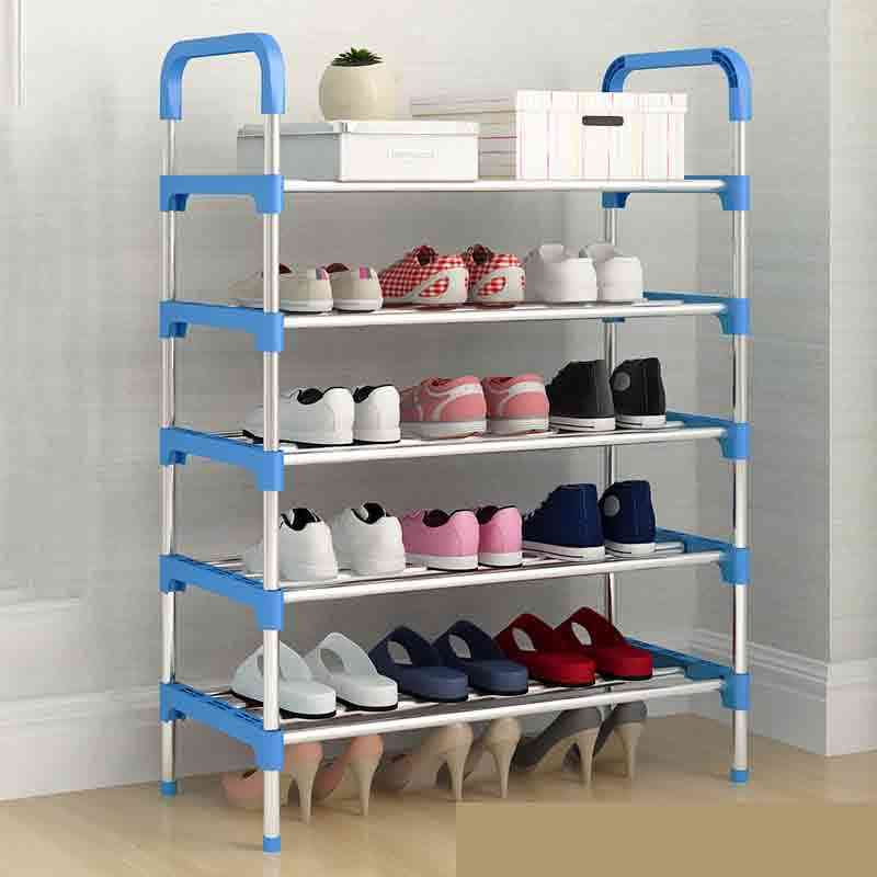 Aluminum Metal Standing Shoe Rack - Diy Storage Shelf