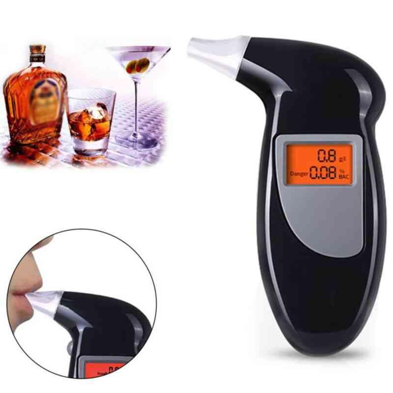 Breathalyser Lcd Screen Alcohol Tester - Self Digital Analyzer Detector