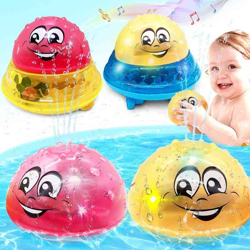 Led Light Spray Water Rotate With Shower Pool - Kids For Toddler Swimming Party Bathroom