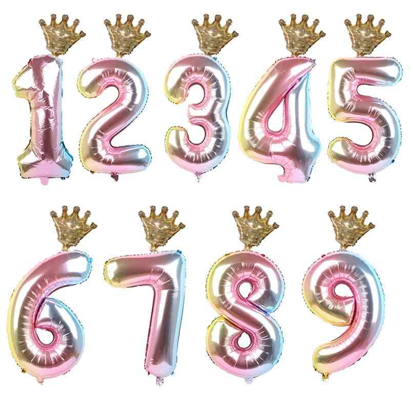 30inch Number Foil Balloons For Kid Happy Birthday