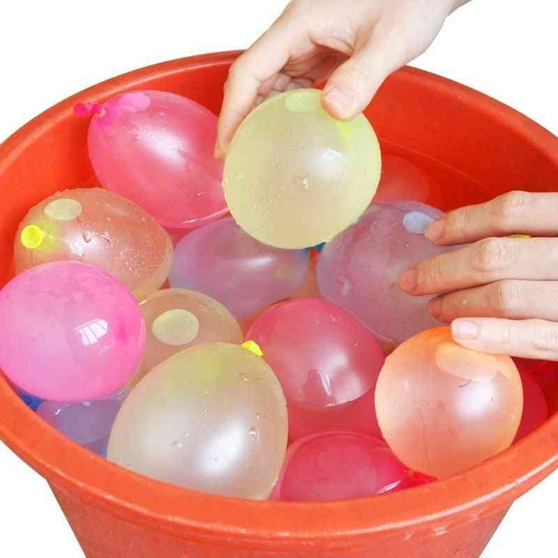 111pcs Water Balloon Seasy And  Quickly Filling Magic Bunch  Beach -summe And Outdoor Fighter For