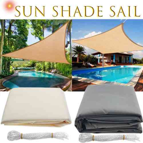 Waterproof Triangle Sunshade Protection Cloth For Outdoor, Canopy, Garden, Patio Pool Shade, Camping Shade