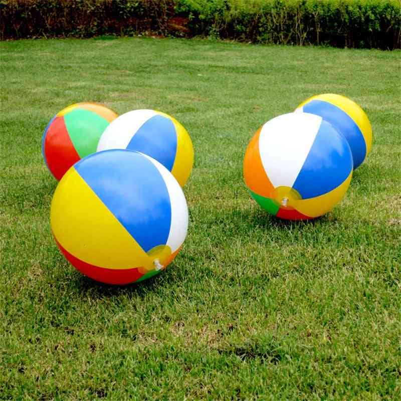 30cm Beach Ball Inflatable Sport Ball, Swimming Pool Water Balloons Kids For (random Color)