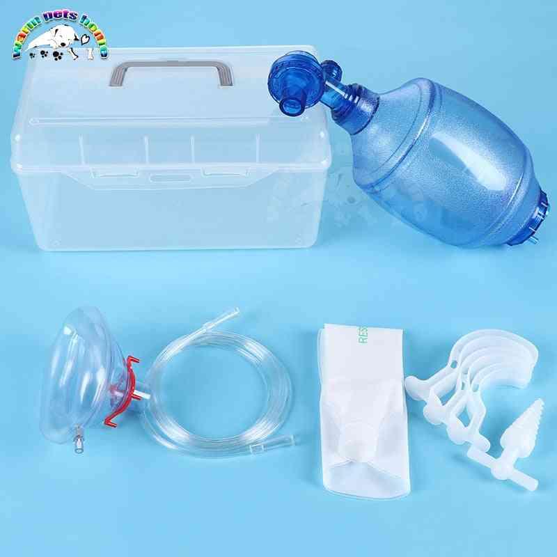 Silicone Artificial Resuscitator Emergency Bag - Manual Resuscitator With Mask Veterinary Tool