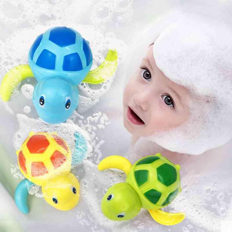 Cute Cartoon, Animal, Tortoise Classic Baby Water Toy Infant Swim Turtle Wound-up Chain Clockwork Kids Beach Bath