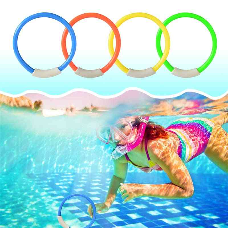 4 Pcs/pack Child Kid Diving Ring Water, Swimming Pool Creative, Swimming For Diving Water (multicolor)