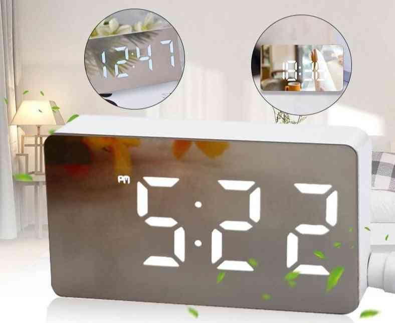 Mini Led Digital Alarm Clock-time, Date Display - Home Decoration