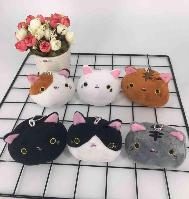6colors , New Cat Plush Doll , Stuffed Doll Little Key Chain