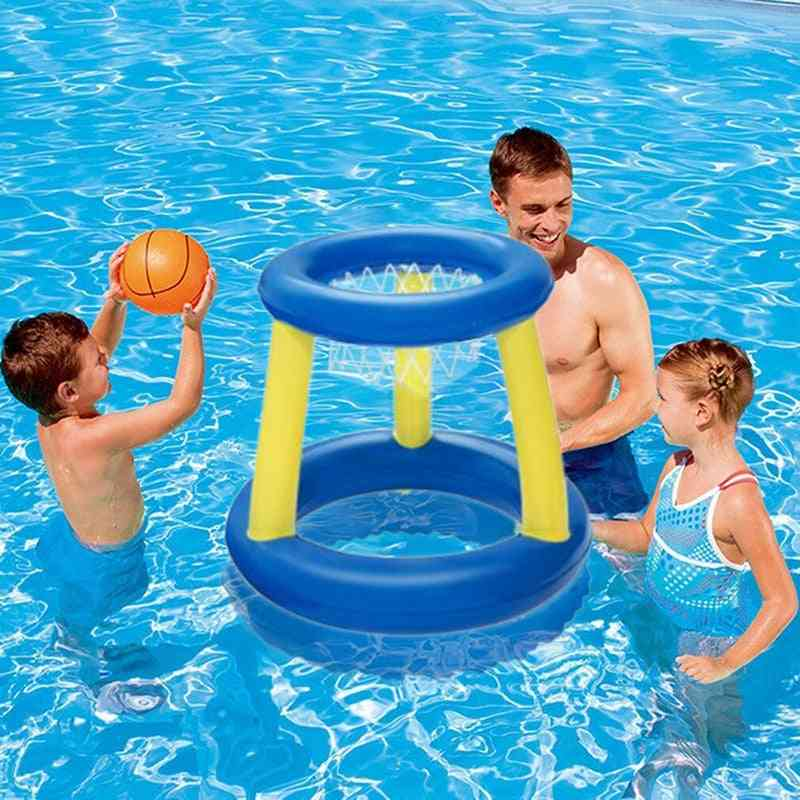 Water Swimming Basketball Hoop Pool Float- Inflatable Ring Play Toss Toy For Kids