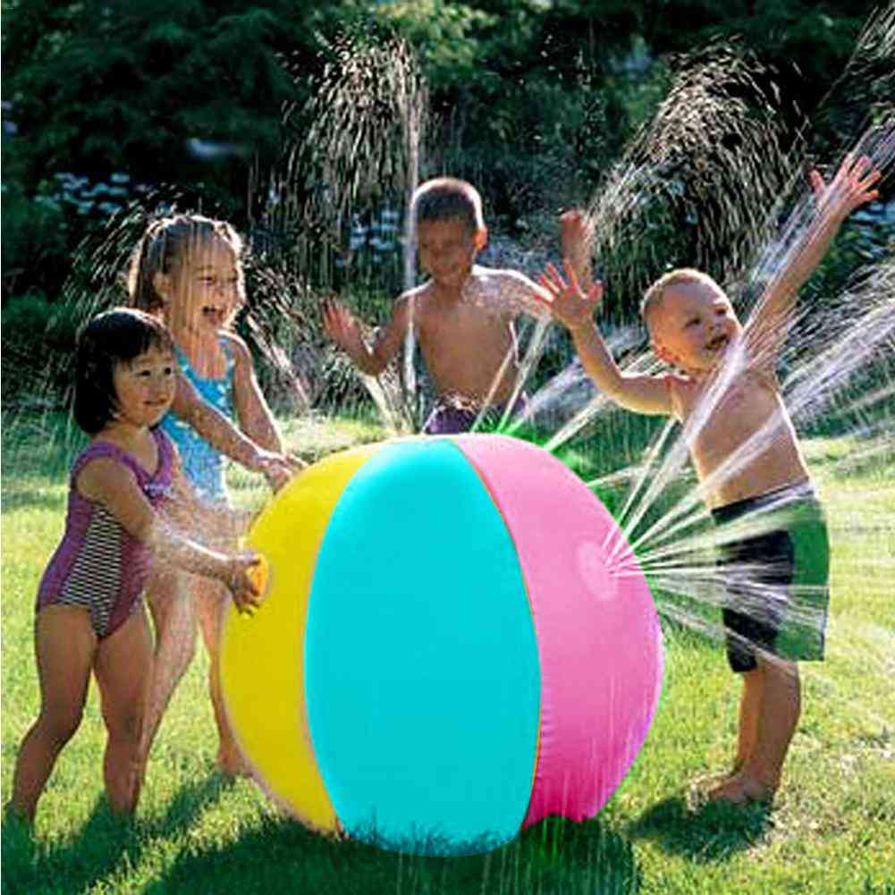Inflatable Pvc Water Spray Beach  Jet Ball Toy