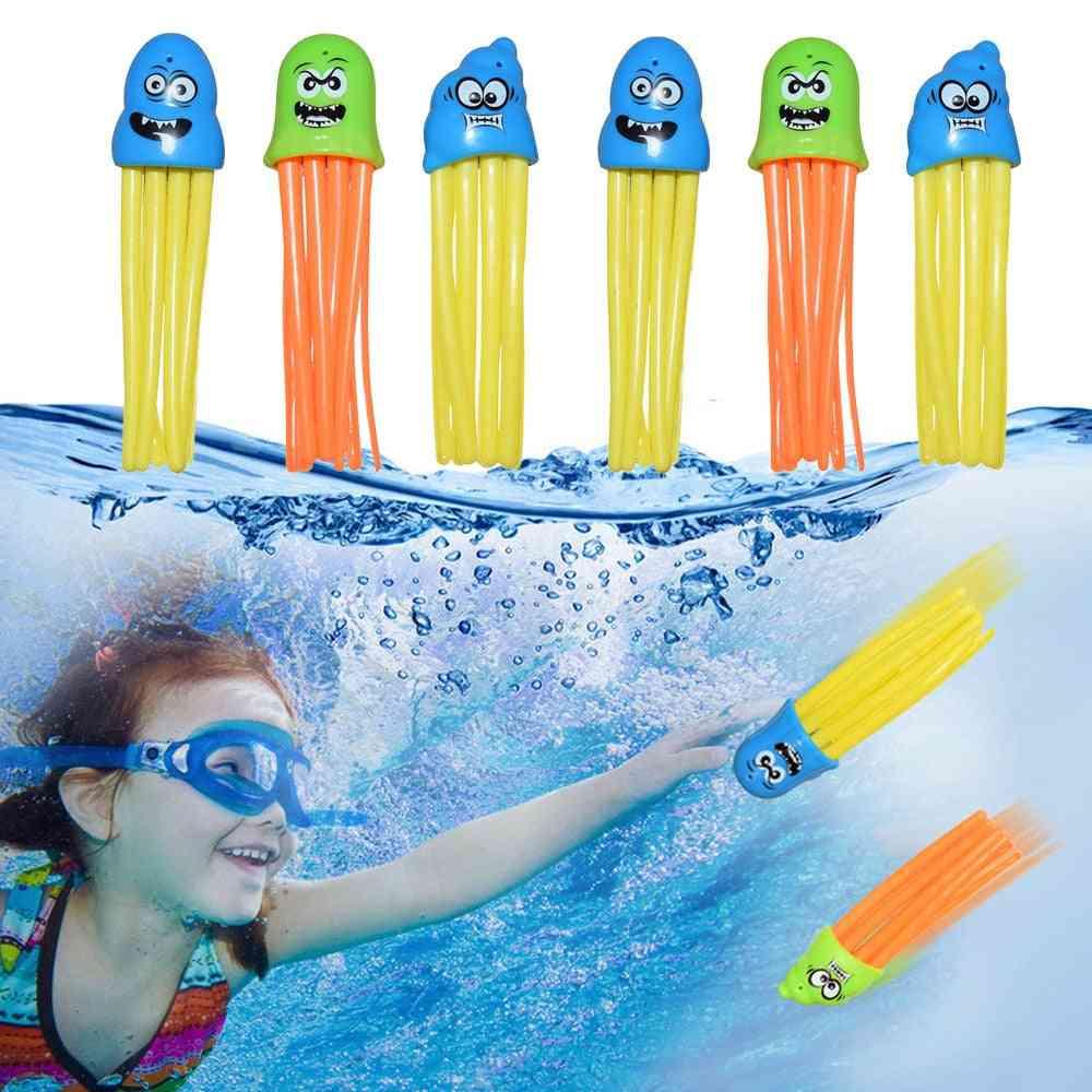 6pcs Swimming Octopus Pool Diving, Octopus Play Water, Underwater Training Fun Bath
