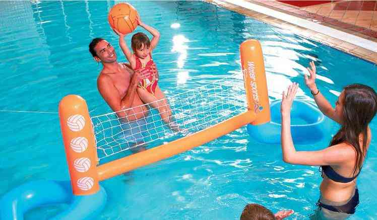 Inflatable Swimming Pool Toy, Floating Volleyball Rack Water Volleyball Net Adult Water Game