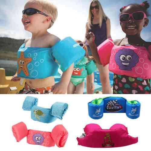 Life Jacket Kids Swim Vest Arm Bands Swimming Buoyancy Aid Pool Wear Float Safe