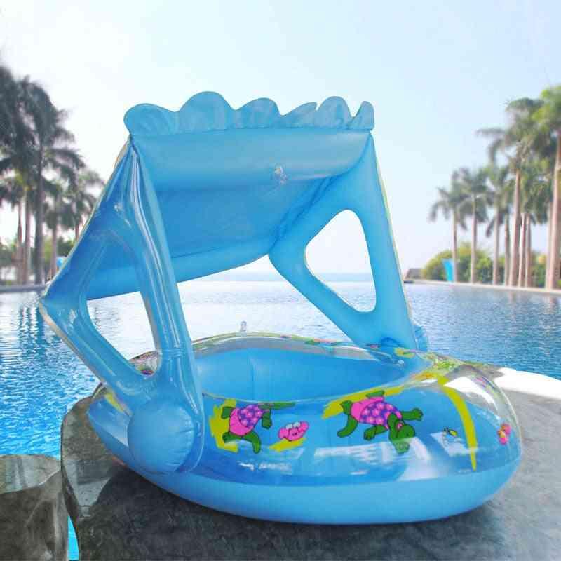 Inflatable Water Swimming Ring Dinosaur Pontoon Baby Boat