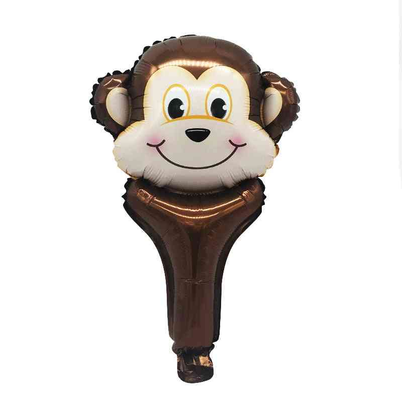 Handheld Bar Animal Head - Stall Scan Code Activity Foil Balloon
