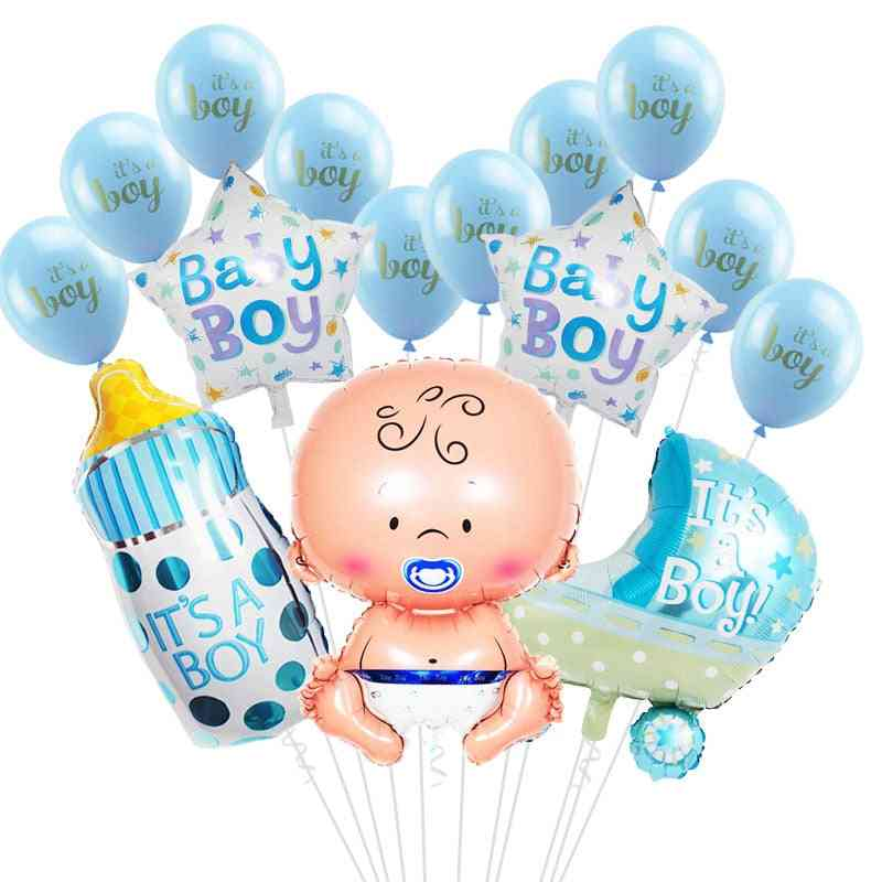 Baby Boy / Girl Shower Balloons For 1st Birthday Party Decorations