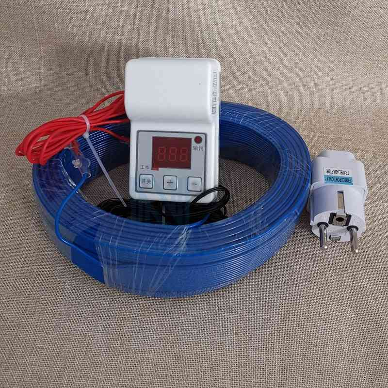 Heating Wire+temperature Controller Set - Greenhouse Warm Underfloor Air Cable