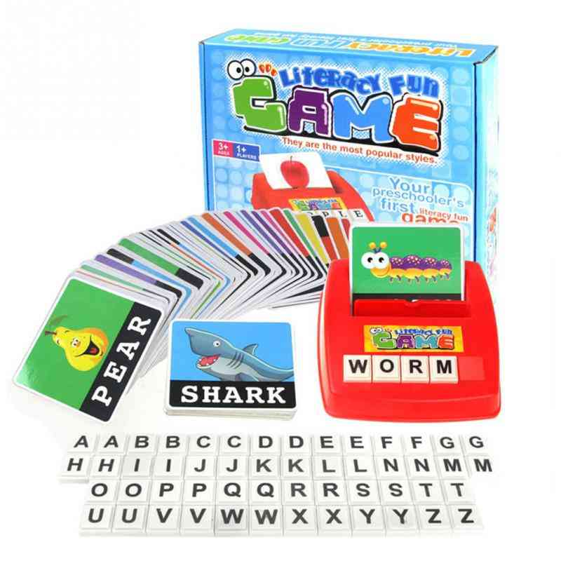 Children Alphabet  Game Card- Vocabulary Word Picture Match Educational