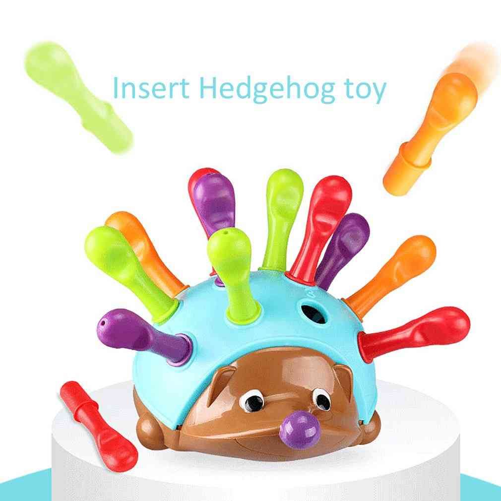 Training Focused On's Fine Motor Hand-eye Coordination Fight Inserted Hedgehog Baby Educational Toy