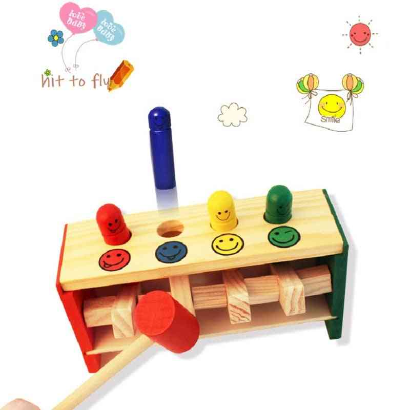 Montessori Educational Toy For Infant Baby- Learning Hand, Eye Coordination Wooden
