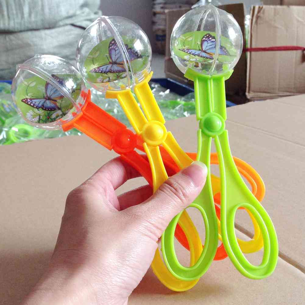 Bug Insect Catcher Scissors Tongs Tweezers Scooper Clamp Kids Toy Cleaning Tool (random)