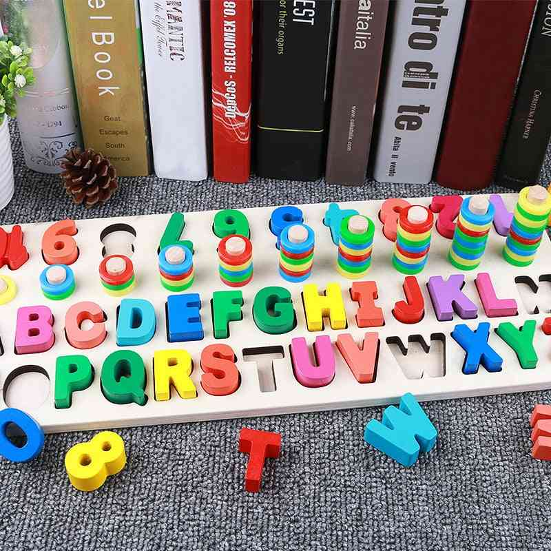 Kids Digital Letter Color Cognition Puzzle Baby-early Learning Building Blocks Montessori Toys
