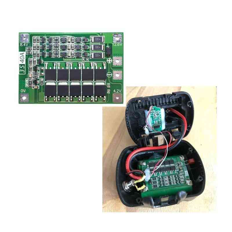 Smart Electronics Bms Protection Board 3s 40a For Drill