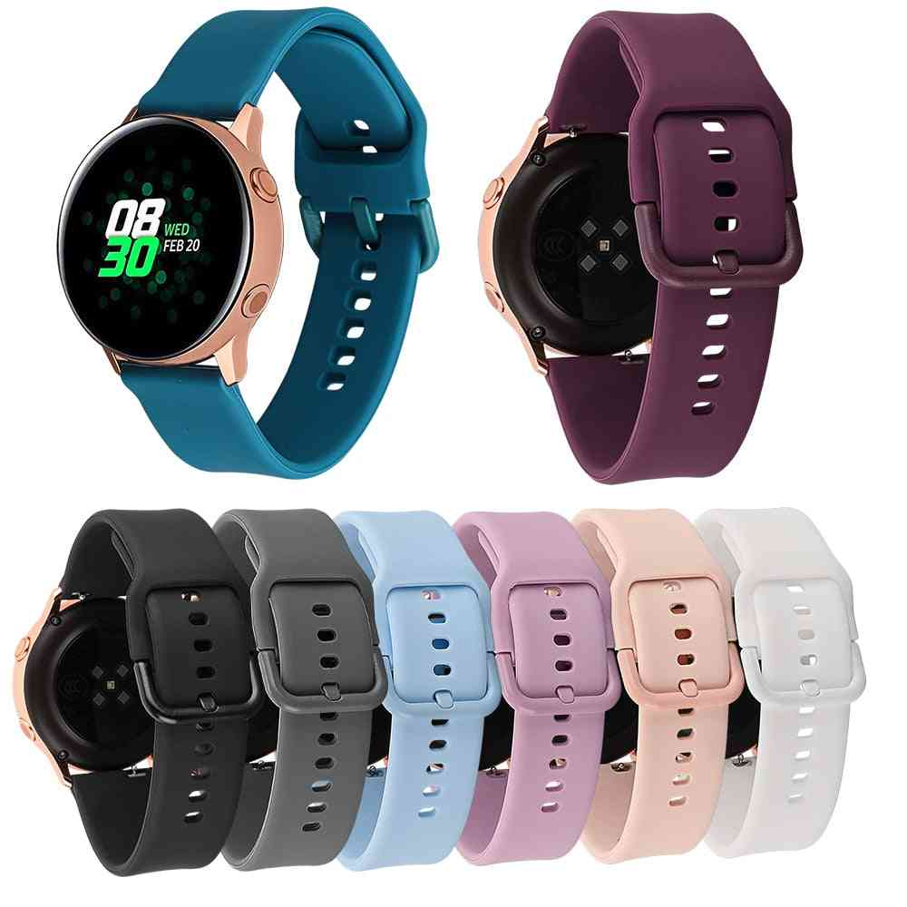 Silicone Strap With Metal Buckle For Smart Watch